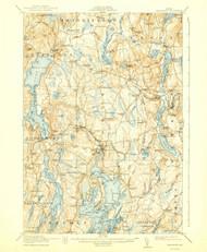 Waldoboro, Maine 1915 (1940) USGS Old Topo Map 15x15 Quad