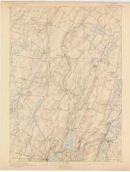 Wiscasset, Maine 1893 (1893) USGS Old Topo Map 15x15 Quad