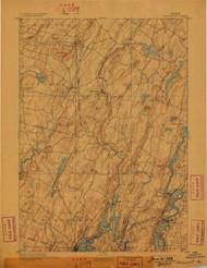 Wiscasset, Maine 1893 (1898) USGS Old Topo Map 15x15 Quad