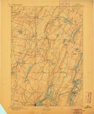 Wiscasset, Maine 1893 (1905) USGS Old Topo Map 15x15 Quad
