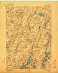 Wiscasset, Maine 1893 (1921) USGS Old Topo Map 15x15 Quad