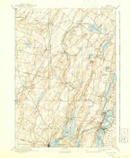 Wiscasset, Maine 1893 (1942) USGS Old Topo Map 15x15 Quad
