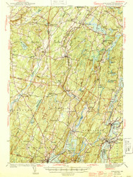 Wiscasset, Maine 1944 (1944 a) USGS Old Topo Map 15x15 Quad