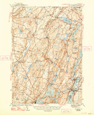 Wiscasset, Maine 1944 (1948 a) USGS Old Topo Map 15x15 Quad