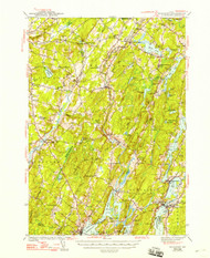 Wiscasset, Maine 1944 (1948 b) USGS Old Topo Map 15x15 Quad