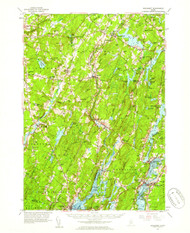Wiscasset, Maine 1957 (1959) USGS Old Topo Map 15x15 Quad