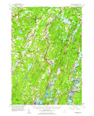 Wiscasset, Maine 1957 (1964) USGS Old Topo Map 15x15 Quad