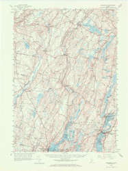 Wiscasset, Maine 1957 (1972 a ) USGS Old Topo Map 15x15 Quad