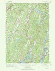 Wiscasset, Maine 1957 (1972 b) USGS Old Topo Map 15x15 Quad