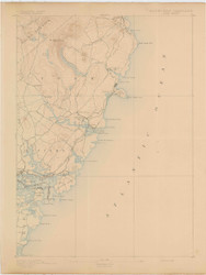 York, Maine 1893 (1893) USGS Old Topo Map 15x15 Quad