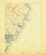 York, Maine 1893 (1913) USGS Old Topo Map 15x15 Quad
