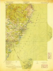 York, Maine 1920 (1920 a) USGS Old Topo Map 15x15 Quad