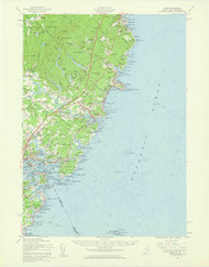 York, Maine 1956 (1960 a) USGS Old Topo Map 15x15 Quad