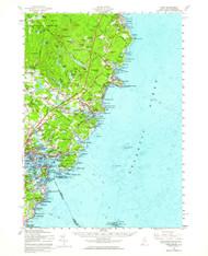 York, Maine 1956 (1964) USGS Old Topo Map 15x15 Quad