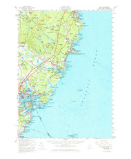 York, Maine 1956 (1973) USGS Old Topo Map 15x15 Quad