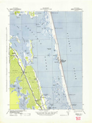 Barco, North Carolina 1940 (1943) USGS Old Topo Map 15x15 Quad