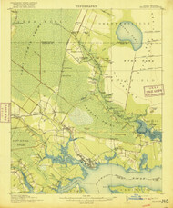 Belhaven, North Carolina 1916 (1916) USGS Old Topo Map 15x15 Quad