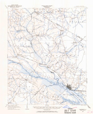 Chocowinity, North Carolina 1903 (1968) USGS Old Topo Map 15x15 Quad