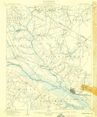Chocowinity, North Carolina 1905 (1905) USGS Old Topo Map 15x15 Quad