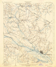 Chocowinity, North Carolina 1905 (1936) USGS Old Topo Map 15x15 Quad