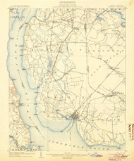 Edenton, North Carolina 1904 (1904) USGS Old Topo Map 15x15 Quad