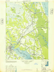 Elizabeth City, North Carolina 1948 (1948) USGS Old Topo Map 15x15 Quad