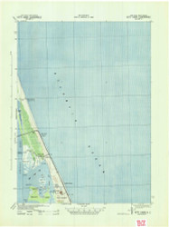 Kitty Hawk, North Carolina 1940 (1942b) USGS Old Topo Map 15x15 Quad