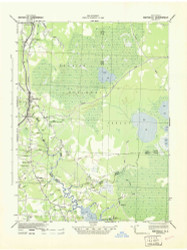 Maysville, North Carolina 1942 (1943) USGS Old Topo Map 15x15 Quad