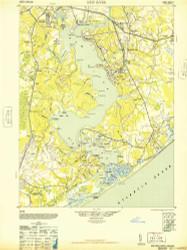 New River, North Carolina 1948 (1948a) USGS Old Topo Map 15x15 Quad