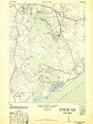 New River, North Carolina 1948 (1948b) USGS Old Topo Map 15x15 Quad