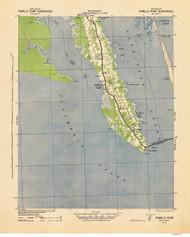 Powells Point, North Carolina 1940 (1942a) USGS Old Topo Map 15x15 Quad