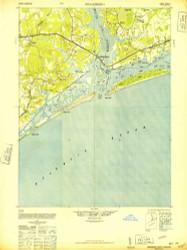Swansboro, North Carolina 1948 (1948) USGS Old Topo Map 15x15 Quad