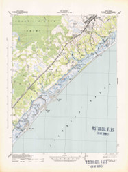 Topsail, North Carolina 1942 (1942) USGS Old Topo Map 15x15 Quad