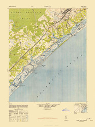 Topsail, North Carolina 1948 (1948a) USGS Old Topo Map 15x15 Quad