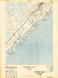 Topsail, North Carolina 1948 (1948b) USGS Old Topo Map 15x15 Quad