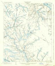 Vanceboro, North Carolina 1904 (1936) USGS Old Topo Map 15x15 Quad