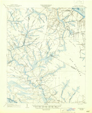Vanceboro, North Carolina 1905 (1945) USGS Old Topo Map 15x15 Quad