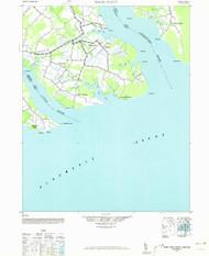 Wade Point, North Carolina 1940 (1973) USGS Old Topo Map 15x15 Quad