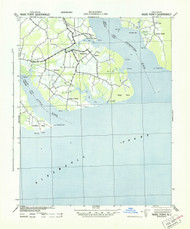 Wade Point, North Carolina 1943 (1943) USGS Old Topo Map 15x15 Quad