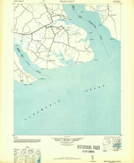 Wade Point, North Carolina 1948 (1948b) USGS Old Topo Map 15x15 Quad