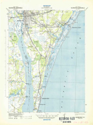 Wilmington, North Carolina 1942 (1942) USGS Old Topo Map 15x15 Quad