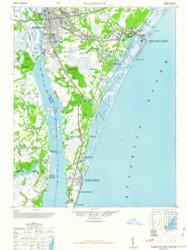 Wilmington, North Carolina 1948 (1948a) USGS Old Topo Map 15x15 Quad