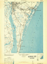 Wilmington, North Carolina 1948 (1948b) USGS Old Topo Map 15x15 Quad