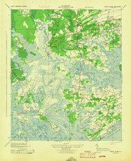 Edisto Island, South Carolina 1943 (1943) USGS Old Topo Map 15x15 Quad