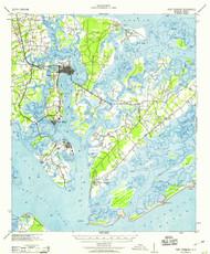 Fort Fremont, South Carolina 1959 (1959) USGS Old Topo Map 15x15 Quad