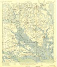 Green Pond, South Carolina 1918 (1942) USGS Old Topo Map 15x15 Quad