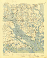 Green Pond, South Carolina 1918 (1945) USGS Old Topo Map 15x15 Quad