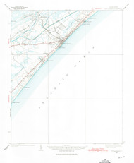 Myrtle Beach, South Carolina 1937 (1975) USGS Old Topo Map 15x15 Quad