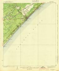Myrtle Beach, South Carolina 1940 (1940a) USGS Old Topo Map 15x15 Quad