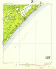 Myrtle Beach, South Carolina 1940 (1940b) USGS Old Topo Map 15x15 Quad